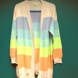 Honey Punch Candy Rainbow cardigan